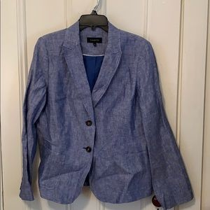 Talbots linen blazer